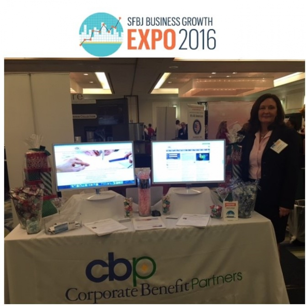 The CBP Team Exhibits at the 2016 SFBJ Business Growth Expo
